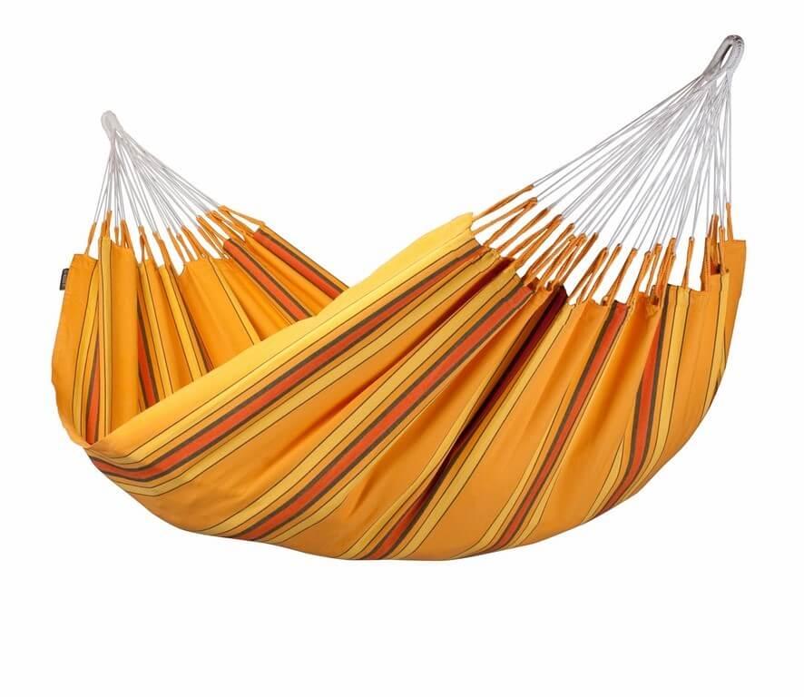 Kolumbianische Doppel-Hängematte CURRAMBERA apricot
