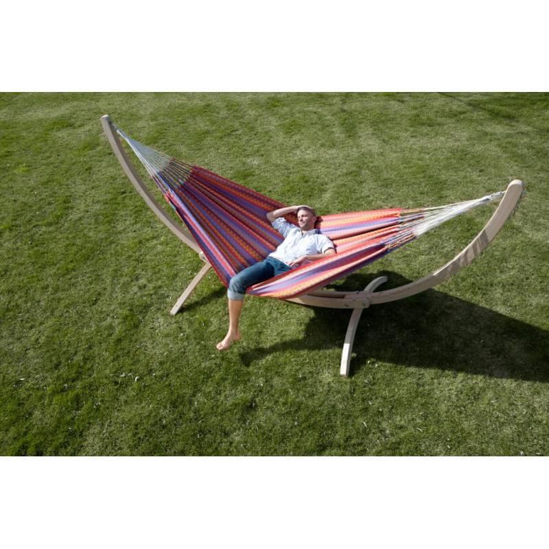 h ngematte carolina flowers mit holz st nder. Black Bedroom Furniture Sets. Home Design Ideas