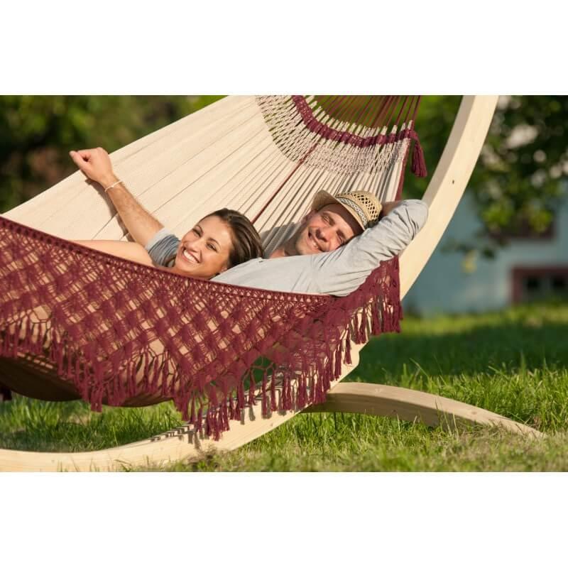 h ngematte domingo coral mit holz st nder. Black Bedroom Furniture Sets. Home Design Ideas