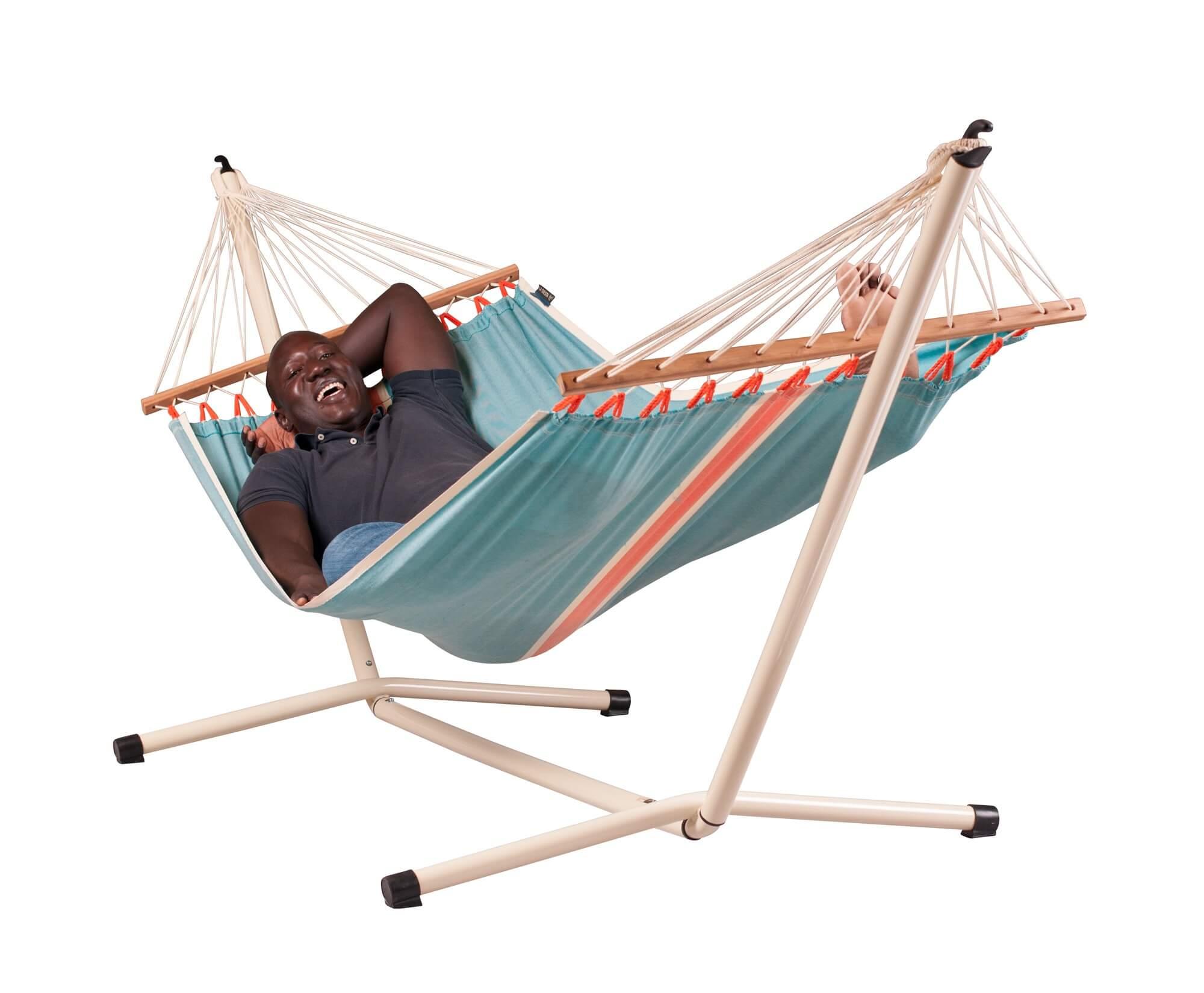 h ngematte cura ao mit st nder. Black Bedroom Furniture Sets. Home Design Ideas