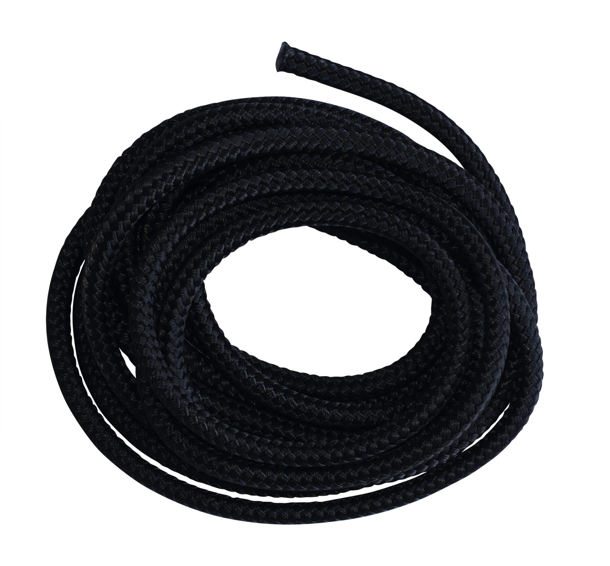 Schwarzes Seil Polyester 3 m