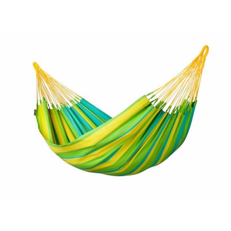 Kolumbianische wetterfeste Single-Hängematte SONRISA lime