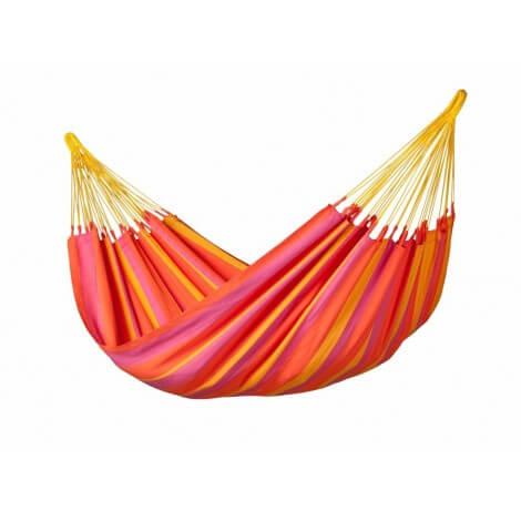 Kolumbianische wetterfeste Single-Hängematte SONRISA mandarine